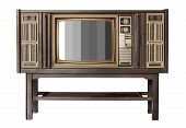 Classic Vintage Retro Style Old  Television With Cut Out Screen,old  Wood Television With Leg Or Sta poster