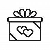 Giftbox Vector Icon On White Background. Giftbox Icon In Modern Design Style. Giftbox Vector Icon Po poster