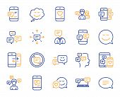 Message Sms And Communication Icons. Group Chat, Conversation And Speech Bubbles Icons. Sms Communic poster