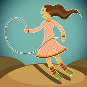 image of jump rope  - Girl with jump rope - JPG