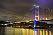 stock photo of tsing ma bridge  - Tsing Ma Bridge in Hong Kong - JPG