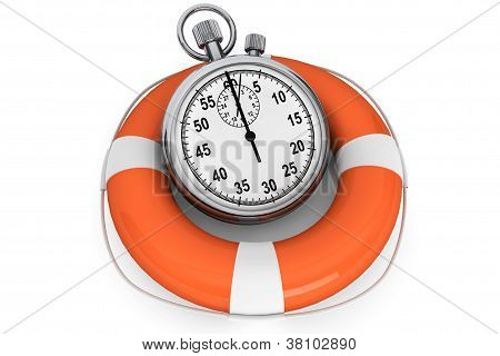 Stopwatch With Life Buoy