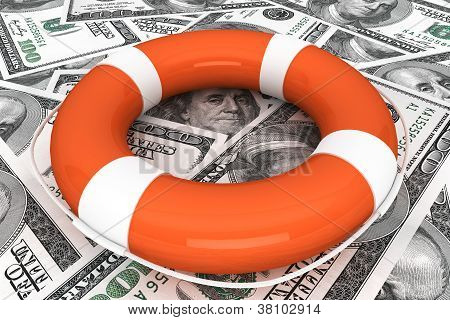 Dollars With Life Buoy