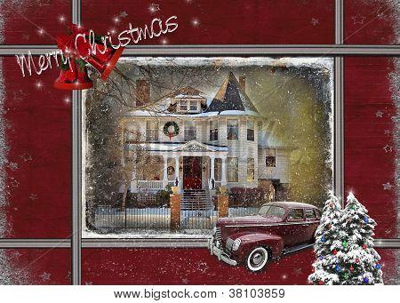Vintage Christmas house