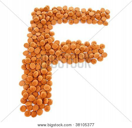 Ginger Nuts, Pepernoten, In The Shape Of Letter F