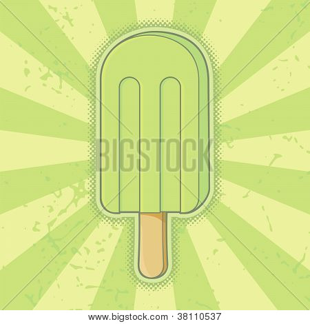 Lime Ice Cream Stick
