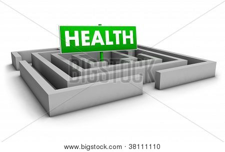 Health Labyrinth Concept