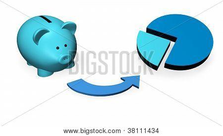 Piggybank Investment Concept
