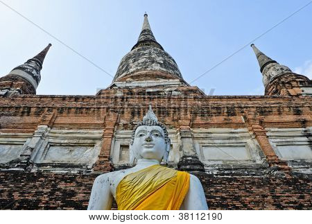 Pagoda And Buddha Statue