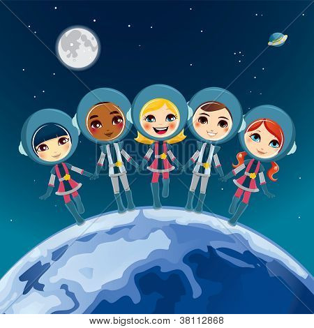 Children Astronaut Dream