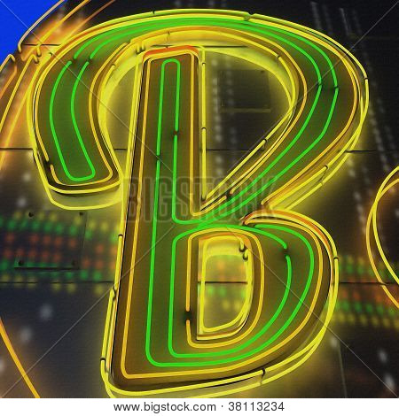 Painting Of The Letters B