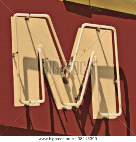Painting Of The Letters M