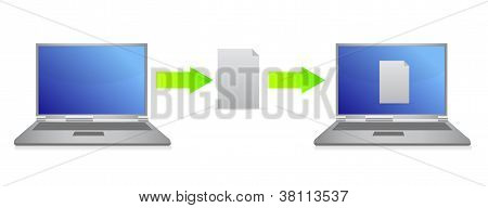 File Transfer Illustration Design