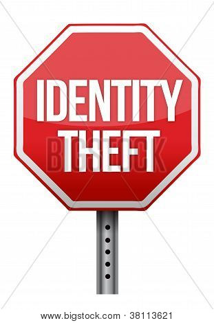 Identity Theft Sign Illustration Design