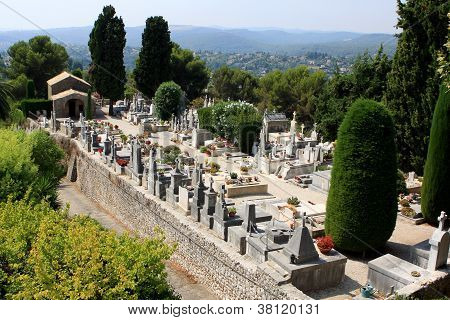 St. Paul de Vence cemetery, France