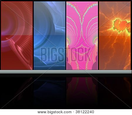 Abstract Colorful Media Room