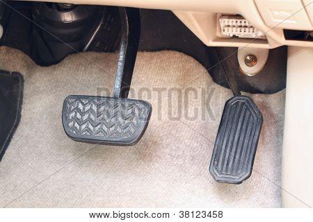 Brake Pedal And Accelerator