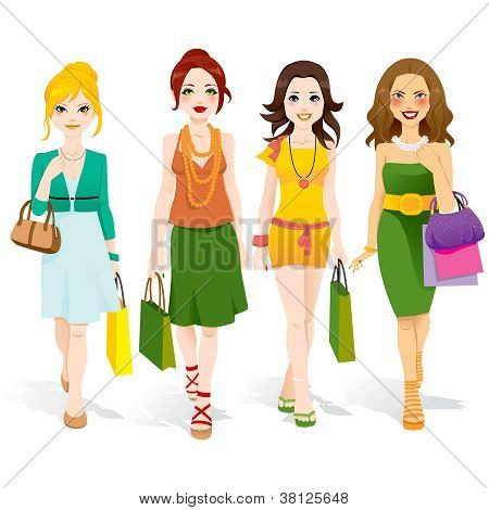Fashion Girls Walking