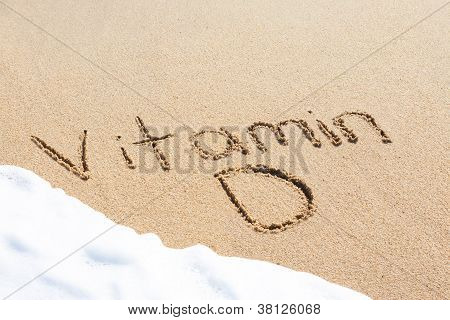 Vitamin D Written In The Sand