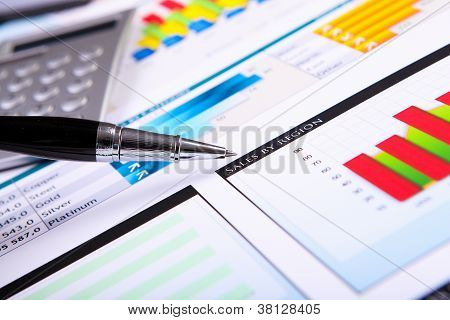 Financial papers on the table