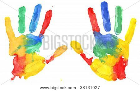 Multicolored Hand Print