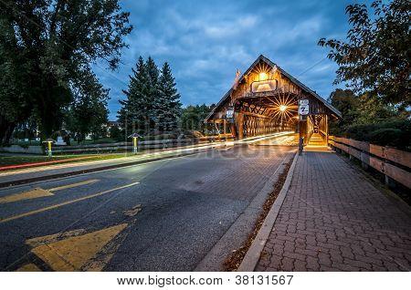 Covered Bridge at Frankenmuth Michigan