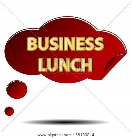 Logotipo do almoço de negócios