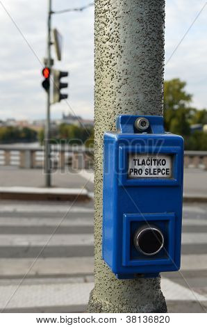 Pushbutton for traffic lights