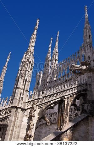 Gothic Cathedral Of Milan Italy