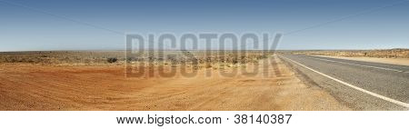Australian Outback Road Panorama