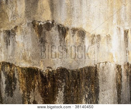 Wet Concrete Wall