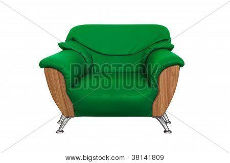 Moderno sofá verde