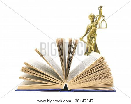 Book And The Statue Of Justice