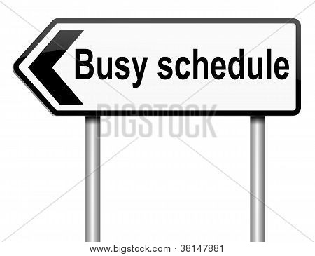 Busy Schedule Concept.