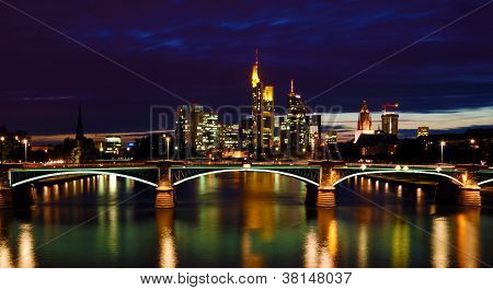 Night View Of Frankfurt
