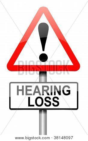 Hearing Loss Concept.