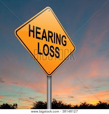 Concepto de pérdida de audición.