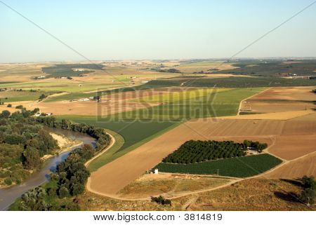 Aerial View Of Spanish Landscape, Cordoba