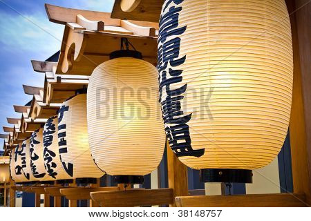 Japanese lanterns at Sensoji Temple