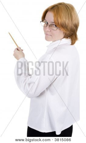 Woman With A Pencil