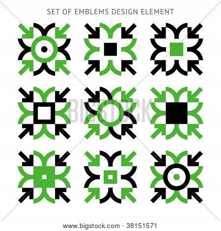 Set of emblems design element-02