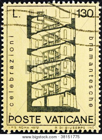 Postage stamp Vatican 1972 Design for Spiral Staircase, by Brama
