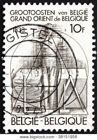 Postage stamp Belgium 1982 Man Taking Oath
