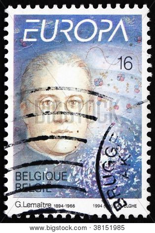 Postage stamp Belgium 1994 Abbe Georges Lemaitre