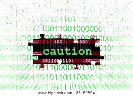 Caution Puzzle Concept