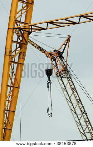 Industrial Crane Against White