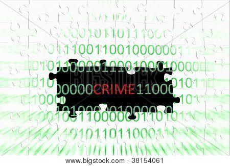 Crime Puzzle Concept
