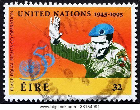 Postage stamp Ireland 1995 UN Soldier