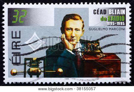 Postage stamp Ireland 1995 Guglielmo Marconi