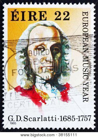 Postage stamp Ireland 1985 Giuseppe Domenico Scarlatti, Composer